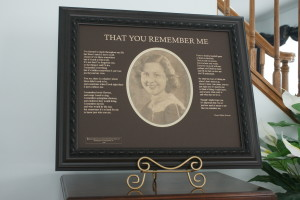 That You Remember Me Brn etched 20x16