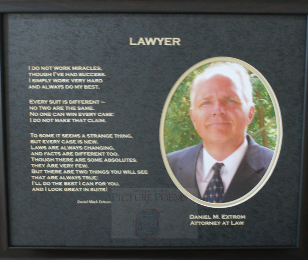 Lawyer 20x16 Oval Personalized