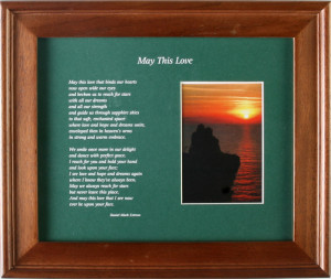 May This Love 10x8; in green or red