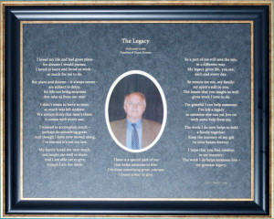 The Legacy: A Poem from an Organ Donor to His or Her Family