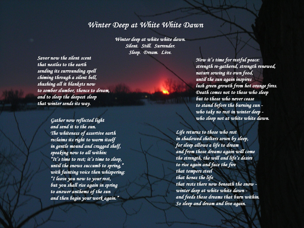 Winter Deep At White White Dawn A Poem To Celebrate Snow
