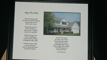 May This Home: 10×8 Printed/Framed