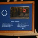 Runner's Blessing   LtBrownFrame/BlueMatte (10x8 Lndsc Print)
