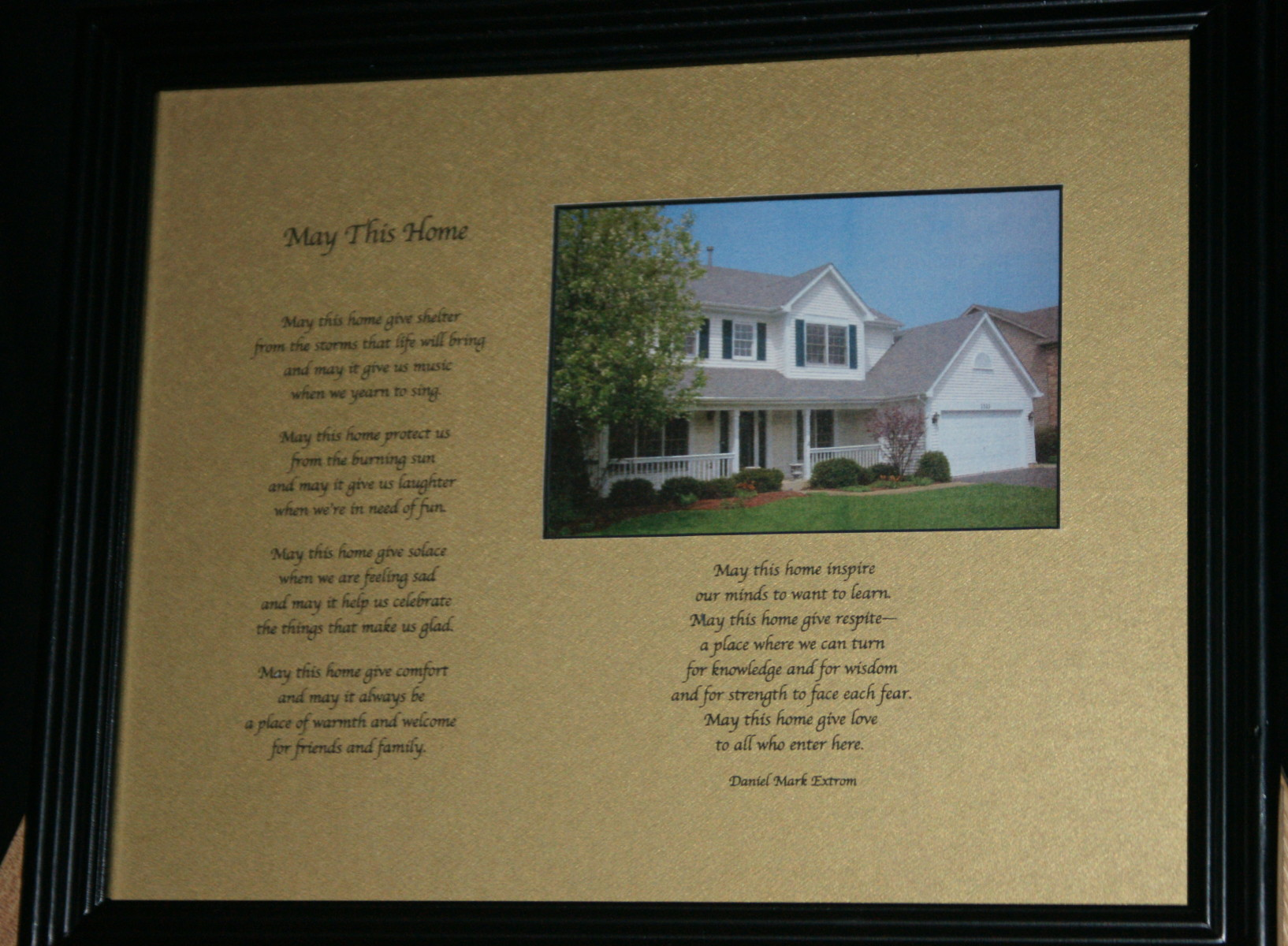 May This Home - Black Frame, Gold Matte