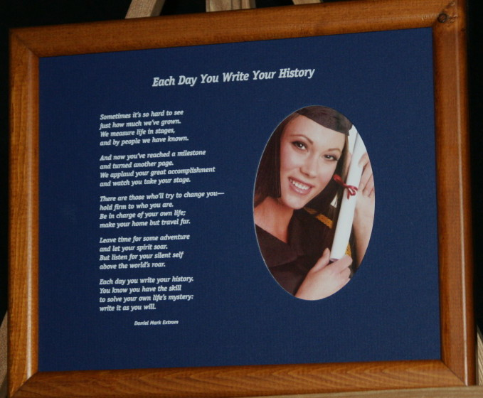 Each Day You Write Your History A Graduation Poem Printed 10 8
