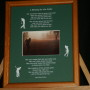 A Blessing for the Golfer  8x10 Print BrownFrame/GreenMatte