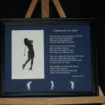 A Blessing for the Golfer 10x8 Print Black Frame/BluePrint