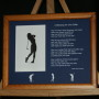 A Blessing for the Golfer 10x8 Lndscp LtBrownFrame/BlueMatte