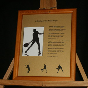 A Blessing for the Tennis Player 8x10 Portrait Print LtBrownFrame/GoldMatte