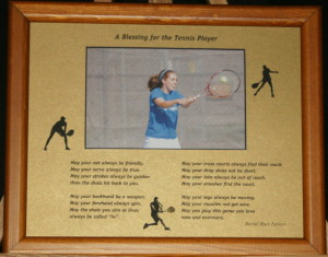 A Blessing for the Tennis Player