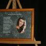Each Day You Write Your History 10x8 Lndscp LtBrownFrame/GrayMarbleMatte