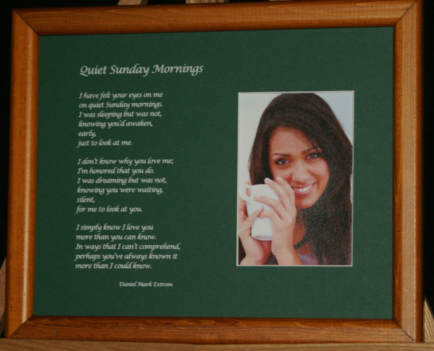 Quiet Sunday Mornings: A Love Poem. In Green.