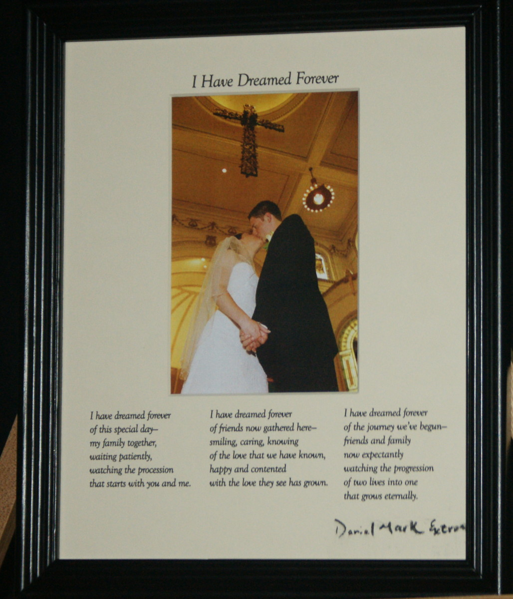 I Have Dreamed Forever: Cream Matte/Black Frame
