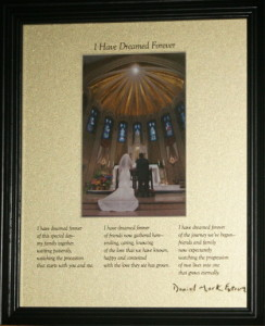 I Have Dreamed Forever 8x10  BlackFrame/LightGoldMatte