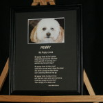 My Puppy Loves 10x8 Etched BlackFrame/BlackMatte