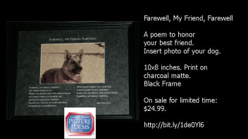 Farewell, My Friend, Farewell: Print-on-Matte. 10 x 8 Inches