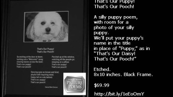 That's Our Puppy! That's Our Pooch!    An Etched Puppy Poem 8×10