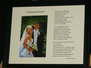 A Thousand Dreams 10x8 BlackFrame/CreamMatte