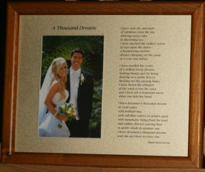A Thousand Dreams 10x8  LtBrownFrame/LtGoldMatte