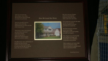 How We Loved Our Home:  Etched  (20 x 16 Inches)