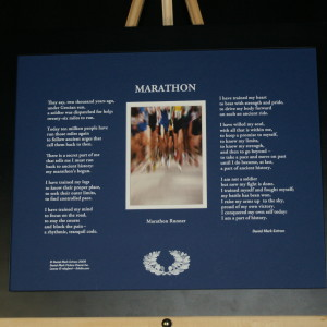 Marathon 20x16 Blue with Black Frame