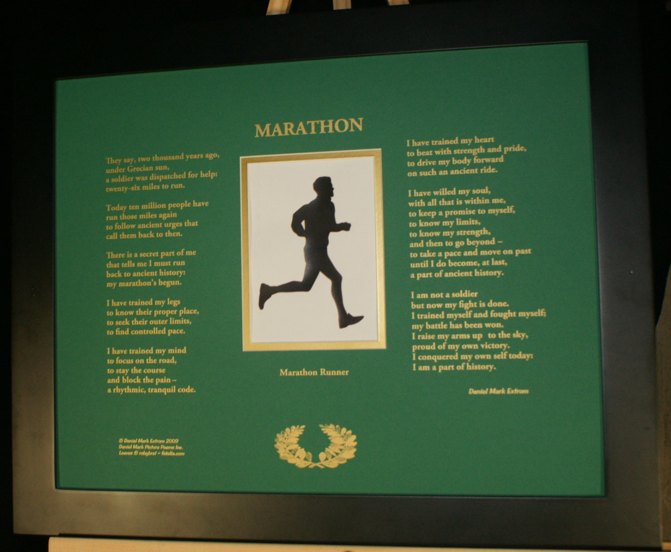 Marathon 20x16 Green with Black Frame
