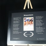 Marathon   BlackFrame/BlackMatte 20x16 Etched