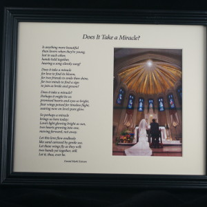 Does It Take A Miracle? Cream 10x8 Framed