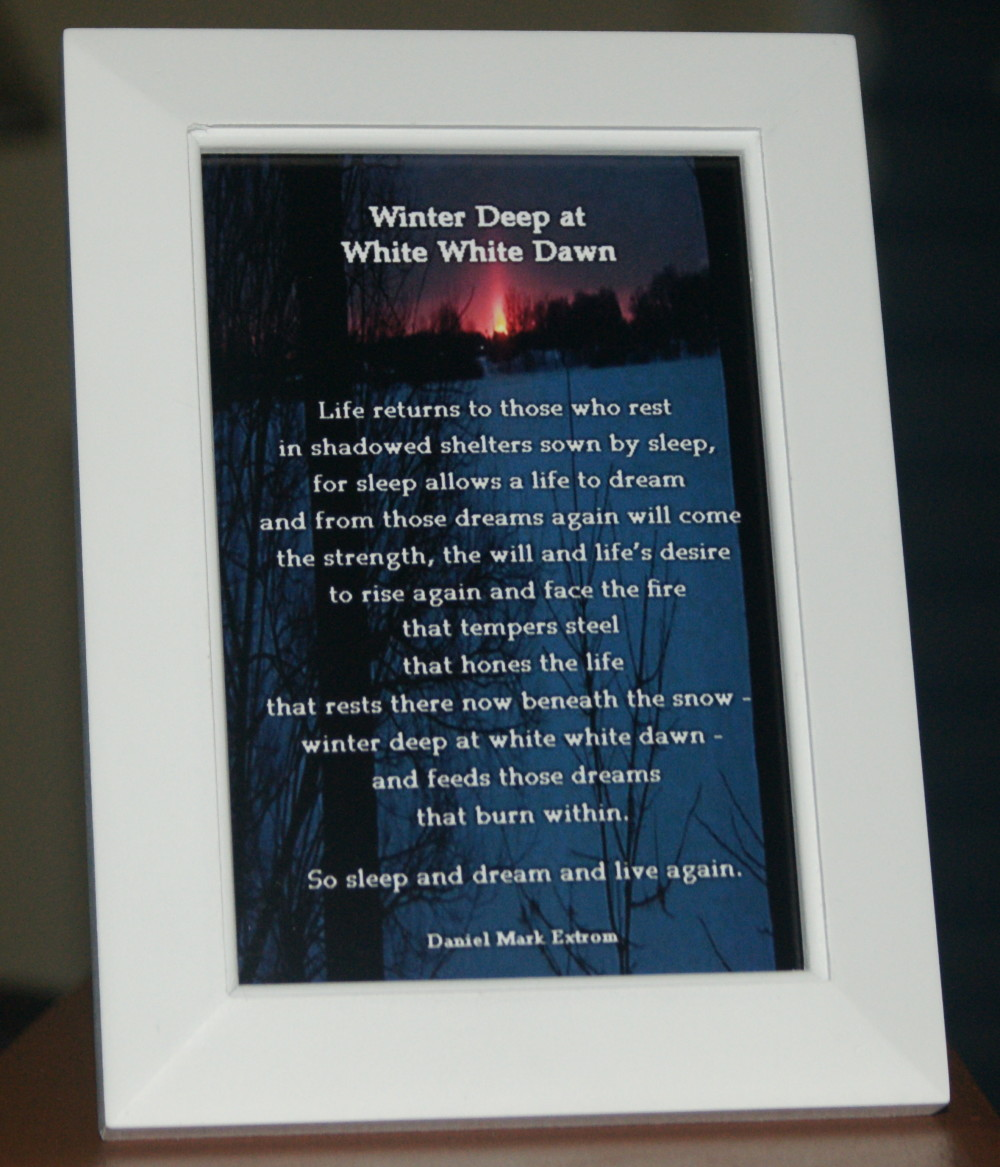Winter Deep V2 White Frame 4x6 Life Returns