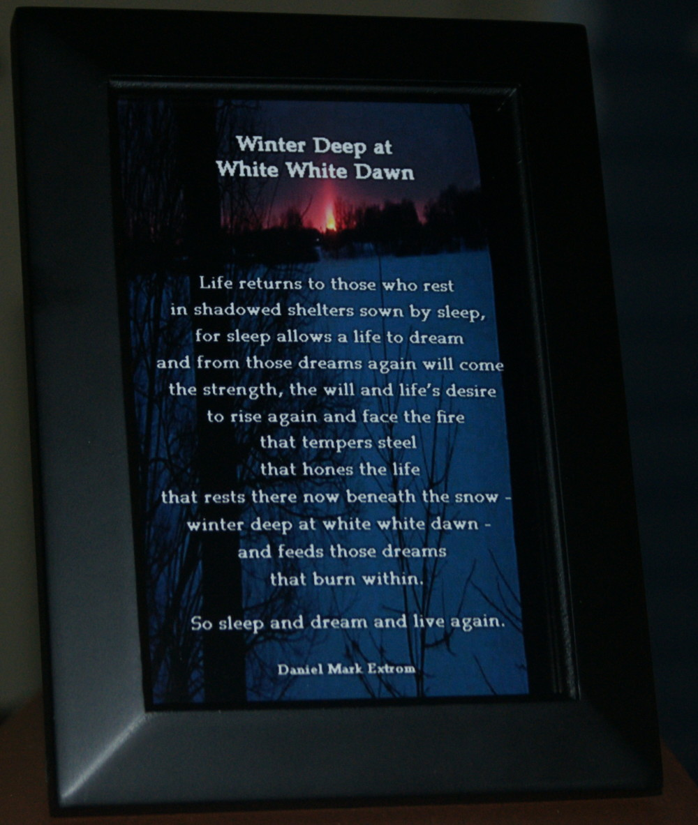 Winter Deep V2 Black Frame 4x6 Life Returns