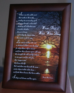 Winter Deep V1 Brown Frame 5x7 inches