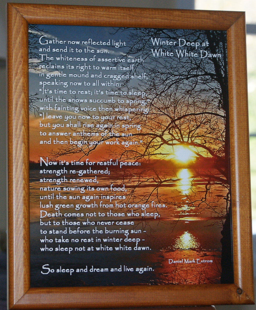 Winter Deep V4 Lt Brown Frame 8x10 inches