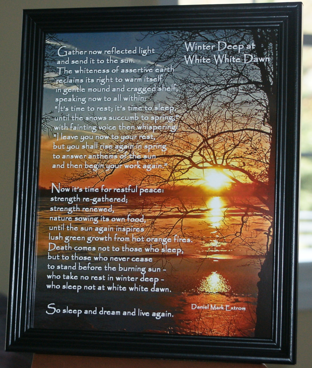 Winter Deep Version 4 Black Frame 8x10 inches