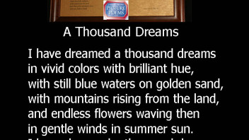 A Thousand Dreams 20×16 and 10×8 Printed  A Love & Wedding Poem