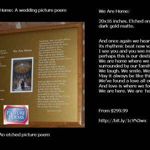 A love poem. A wedding poem.