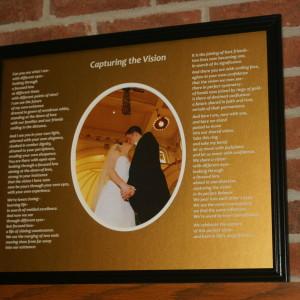 Capturing the Vision in Gold Matte Black Frame