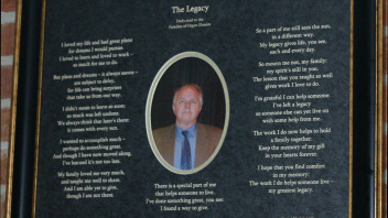 The Legacy: An Etched Poem About Organ Donation