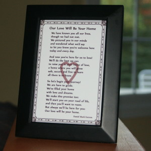 A gift to celebrate a new daughter or son.