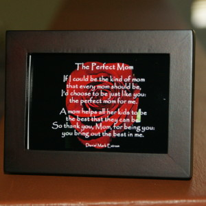 Perfect Mom 3.5x2.5 Dark Brown Frame