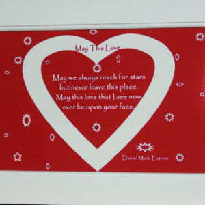 A Photo Poem for Valentine's Day. Red Background. Shorter Version. 6x4 inches.