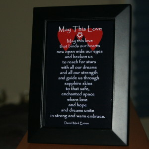A love poem. 4x6. Black Background.
