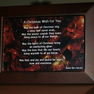 """May the lights of Christmas bring / an everlasting glow . . ."""