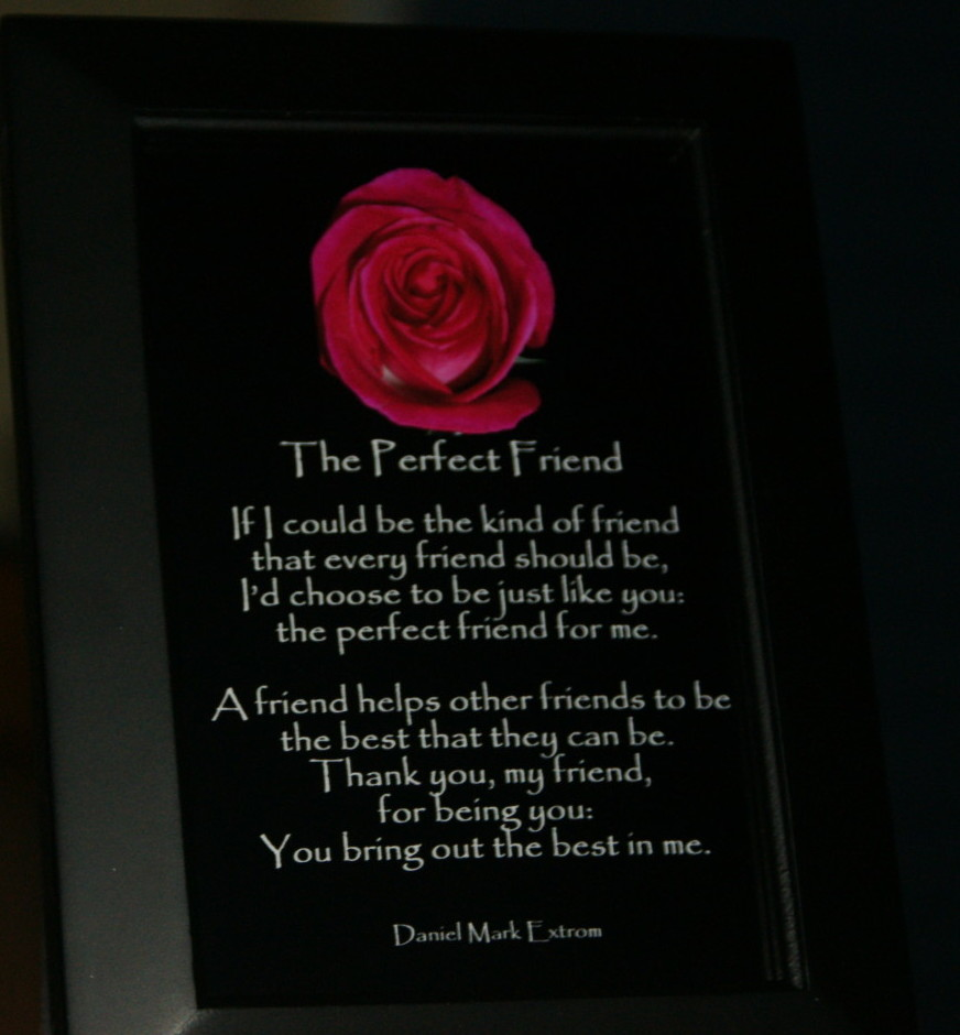 The perfect friend a photo poem in two sizes daniel for A perfect gift for a friend