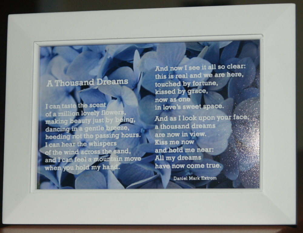 A Thousand Dreams White Frame 6x4 Blue Flowers