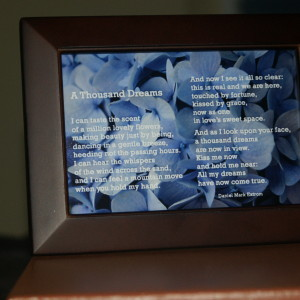 A Thousand Dreams Brown Frame 6x4 Blue Flowers