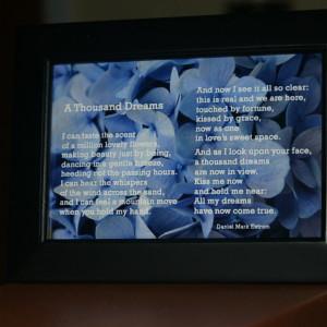 A Thousand Dreams Black Frame 6x4 Blue Flowers