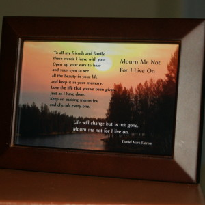 Mourn Me Not Brown Frame 6x4 River