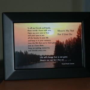 Mourn Me Not Black Frame 6x4 River