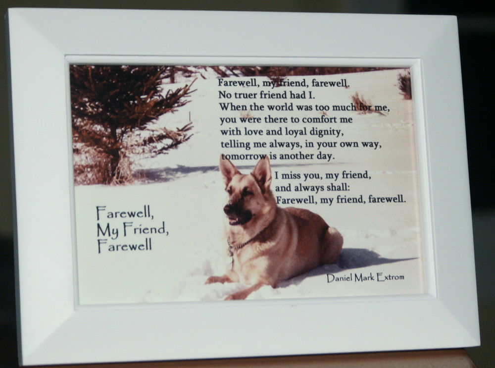 Farewell, My Friend, Farewell: A Photo Poem. A Dog Memorial. 6×4 ...