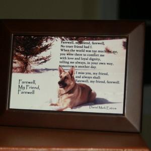 Farewell, My Friend Brown Frame 6x4